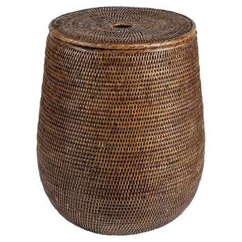 Baolgi - Biarritz Laundry Basket - Teak (H50 x W34 x D34cm)