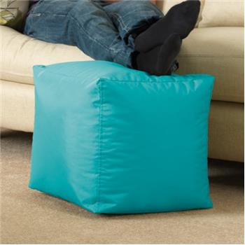 BAR B CUBE Beanbag Stool AQUA - Outdoor & Indoor Use - Waterproof Bean Bags
