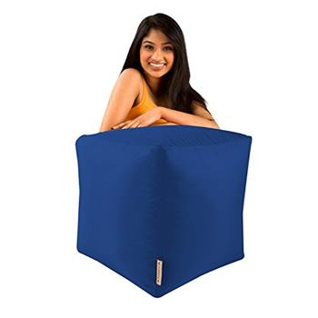 BAR B CUBE Beanbag Stool BLUE - Outdoor & Indoor Use - Waterproof Bean Bags