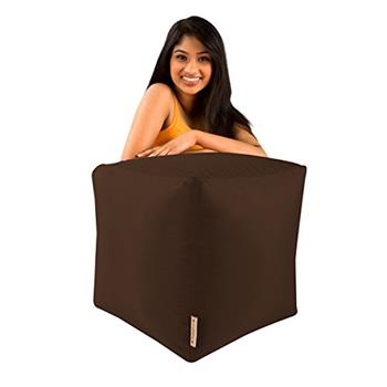 BAR B CUBE Beanbag Stool BROWN - Outdoor & Indoor Use - Waterproof Bean Bags
