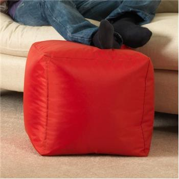 BAR B CUBE Beanbag Stool RED - Outdoor & Indoor Use - Waterproof Bean Bags
