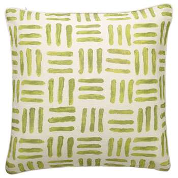 Barathea Cushion Cover, Large - Lime (51 x 51cm)