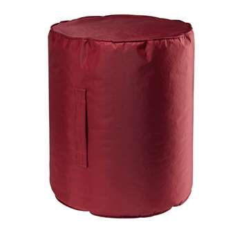 BARBADE red fabric garden pouffe (46 x 40cm)