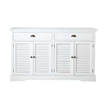 BARBADE Wooden Sideboard in White (H90 x W150 x D44cm)
