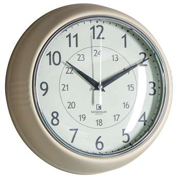 Barbican Clock Oatmeal (Diameter 24cm)