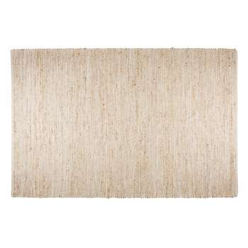 BARCELONE cotton and beige jute rug (200 x 300cm)
