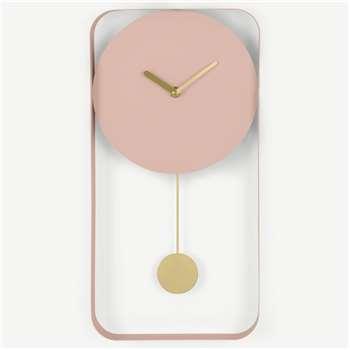 Bard Pendulum Wall Clock, Blush Pink (H41 x W21 x D5cm)