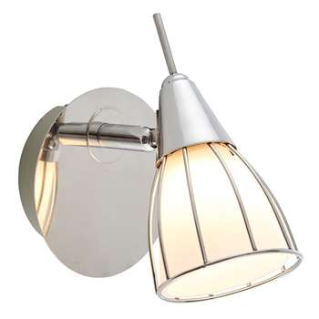 Bardot Spotlight Satin Nickel (H15 x W15cm)