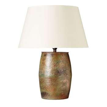 Barrel Lamp - Verdigris (36 x 26cm)