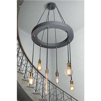 Barrington Industrial Chandelier (230 x 80cm)