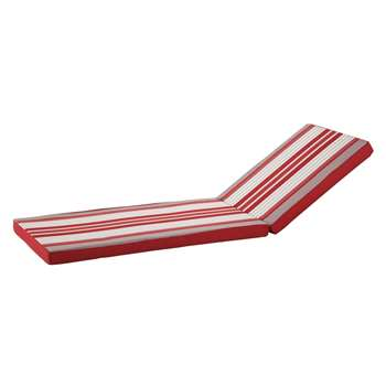 BASQUE Sun Lounger Cushion with Striped Motifs (58 x 196cm)