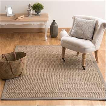 BASTIDE sisal woven rug in beige (140 x 200cm)