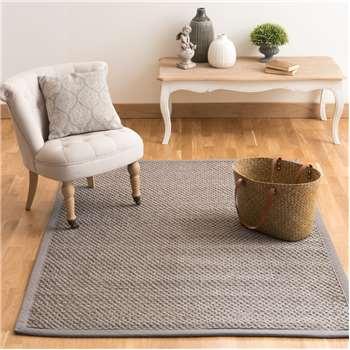 BASTIDE sisal woven rug in grey (140 x 200cm)