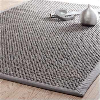 BASTIDE sisal woven rug in grey (200 x 300cm)