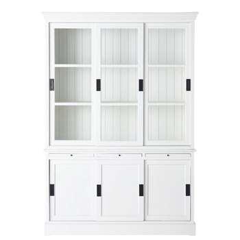 BASTILLE Wooden Dresser in White (H198 x W140 x D44cm)