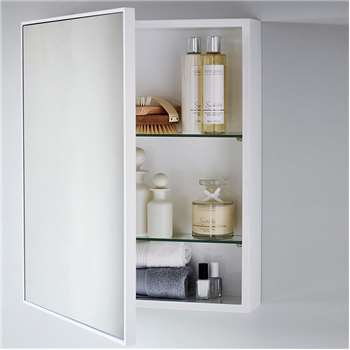 Bathroom Cabinet, White (55 x 46cm)