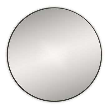 Bathroom Origins - Round Framed Mirror - Black (H60 x W60cm)