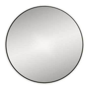 Bathroom Origins - Round Framed Mirror - Black (H60 x W60cm)