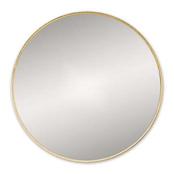Bathroom Origins - Round Framed Mirror - Brushed Brass (H60 x W60cm)