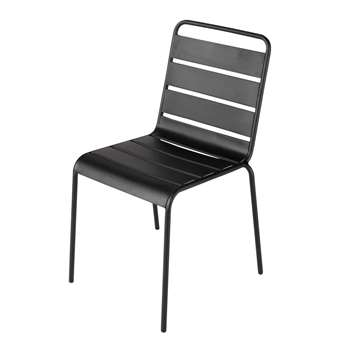 BATIGNOLES Metal garden chair in black (84 x 47cm)
