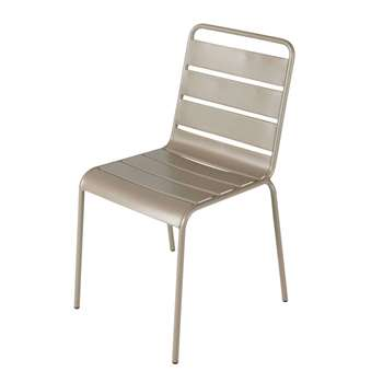 BATIGNOLES Metal garden chair in taupe (84 x 47cm)
