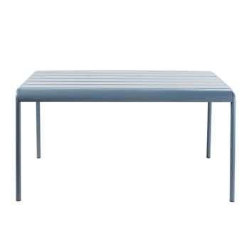 BATIGNOLLES Blue Grey Metal 4-6 Seater Garden Table (H71 x W140 x D89cm)