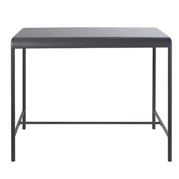 BATIGNOLLES Grey Metal 4-Seater Counter-Height Garden Table (H104 x W130 x D78cm)