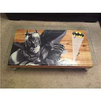 Cappa E Spada - Batman Dark Knight Coffee Table with Glass Top (H38 x W114.3 x D76.2cm)