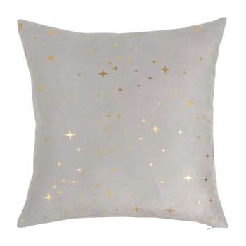 BAVOIS - Grey Cushion Cover with Gold Star Print (H40 x W40cm)