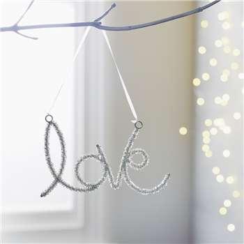 Beaded Love Christmas Decoration (H9 x W15cm)