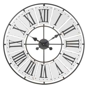 BEAUCOURT metal clock (70 x 70cm)