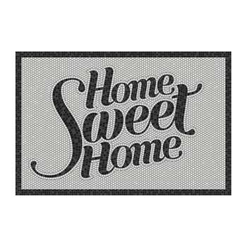 BEAUMONT - 5th Avenue Home Sweet Home Vinyl Door Mat - Black (H49.5 x W83cm)