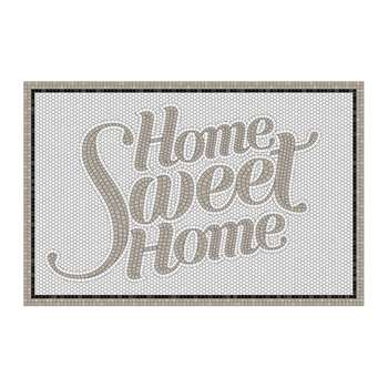 BEAUMONT - 5th Avenue Home Sweet Home Vinyl Door Mat - Grey (H49.5 x W116cm)