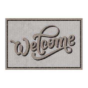 BEAUMONT - 5th Avenue Welcome Vinyl Door Mat - Grey (H49.5 x W83cm)