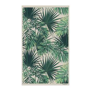 BEAUMONT - Jungle Vinyl Floor Mat - Beige/Green (H99 x W150cm)