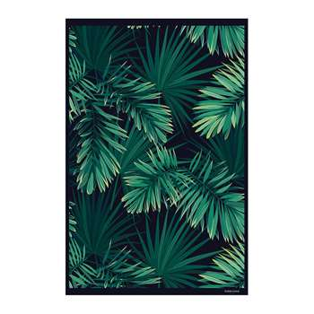 BEAUMONT - Jungle Vinyl Floor Mat - Black/Green (H99 x W150cm)