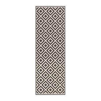 BEAUMONT - Squares Vinyl Floor Mat - Cream/Black (H150 x W99cm)