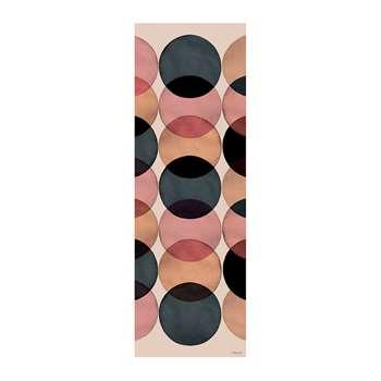 BEAUMONT - Watercolour Circles Vinyl Floor Mat - 66x198cm (H198 x W66cm)