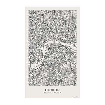 BEAUMONT - Week-end Vinyl Floor Mat - London - 99x150cm (H150 x W99cm)