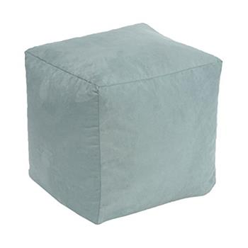 Beautiful Beanbags Aqua Faux Suede Cube