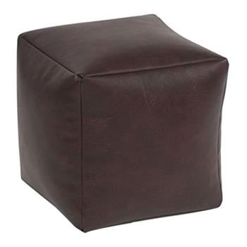Beautiful Beanbags Brown Faux Leather Cube