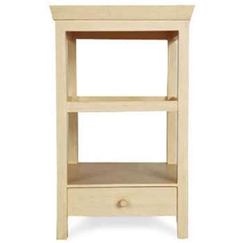 Beauvais Wood Bedside Table with Storage - Buttermilk (71 x 42cm)
