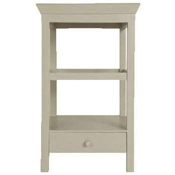 Beauvais Wood Bedside Table with Storage - Dove Grey (71 x 42cm)