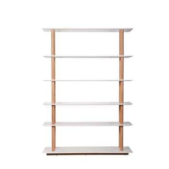 Bedroom Living Room Bookshelf with Scandinavian Solid Oak Legs (Width 120cm)