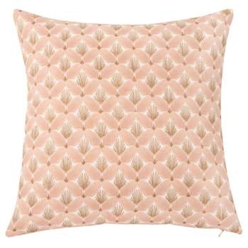 Beige Cotton Cushion Cover With Gold Graphic Print (H40 x W40cm)