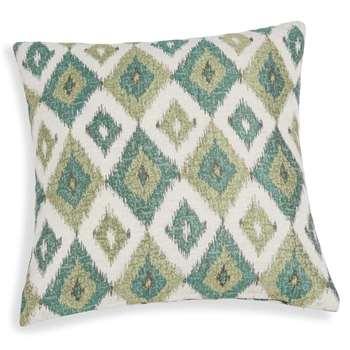 BELEM green cushion cover with jacquard motif (40 x 40cm)