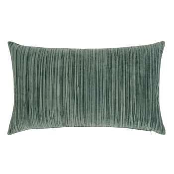 BELGIEK - Pleated Blue Cushion Cover (H30 x W50cm)