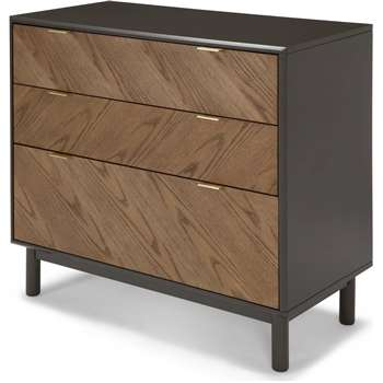 Belgrave Chest of Drawers, Dark Stained Oak (93 x 100cm)