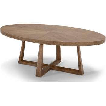 Belgrave Coffee Table, Dark Stained Oak (35 x 100cm)
