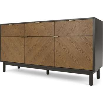 Belgrave Large Sideboard, Dark Stained Oak (H81 x W160 x D47cm)